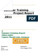 Summer Training Report_Caparo Maruti