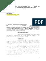 Modelo 01 de Açao Ordinória Incorporação 11,98