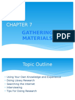 Chapter 7_gathering Materials