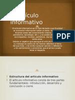 El Artículo Informativo