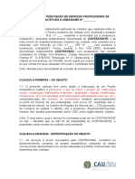 Contrato de Prestacaoo de Servicos Profissionais de Arquitetura e Urbanismo II