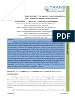 8. Ijasr - Effect of Operating Parameter on Performance Ofwater