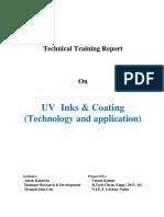 UV Printing Inks Technical Training of Umesh Kumar