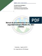 Anexo Digital 1. Manual Cabina de Seguridad Biológica