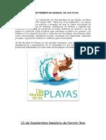 18 de Septiembre Dia Mundial de Las Playa