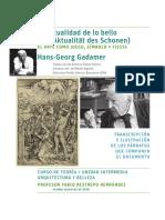 La Actualidad de lo bello - Gadamer. Transcripción con referencias
