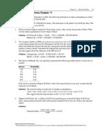 Quantitative Problems Chapter 11