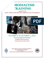 Brochure_training Workshop_concepts in Small Animal Nephrology & Hemodialysis Techniques