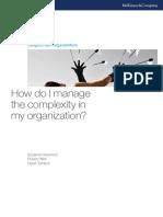 Como eu gerencio a complexidade na minha organização?