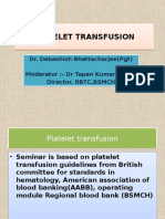 Platelet Transfusion Deb