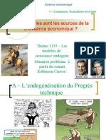 Thème 1135- Les modèles  de  croissance endogène.ppt