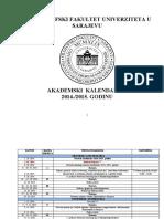 Akademski Kalendar 2014-2015