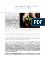 Tendencias de La Agroecología en El Perú
