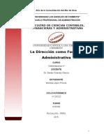 Direccion como función administtativa