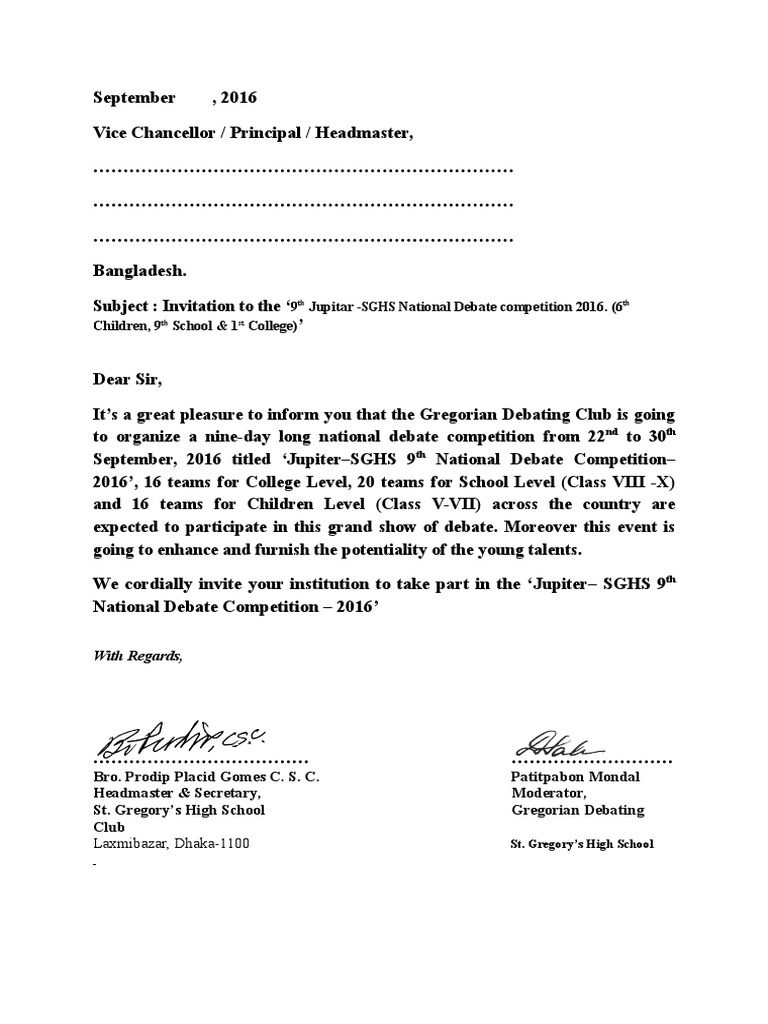 Invitation letter of jupiter sghs 9th national debate competition invitation letter of jupiter sghs 9th national debate competition 2016 academia stopboris Image collections