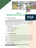 Bab 4 Rencana Kerja dan Organisasi.doc
