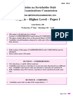 Leaving Cert English Paper 1 2014