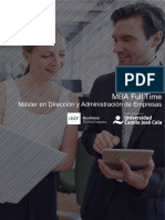 PDF Programa Curso Mba Madrid Full Time Doble Titulo Universitario