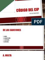 Código Del CIP Sanciones