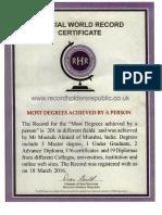 Certificate of Rhr India