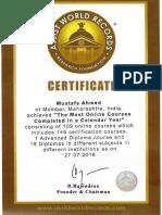 Certificate of AWR