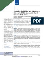 Weefmi Factibilidad y Confiabilidad en Evaluacion Del Estado Funcional de Niños Holandeses