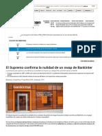 El Supremo Confirma La Nulidad de Un Swap de Bankinter - Bolsamanía