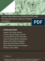 Norma Oficial Mexicana NOM 030 STPS 2009
