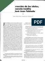 La Resurrección de Los Idolos- Novela Inedita de Juan Jose Tablada