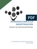 Texto Introducción a La Investigación Parte i