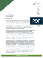Gov. Pence Medical Letter