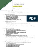 Teste Ex. de Licenta - Medicina - 2016