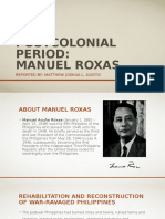 Postcolonial Period Manuel Roxas