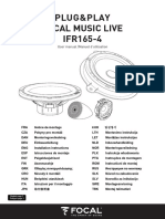 FocalMusicLive IFR165-4 User Manual