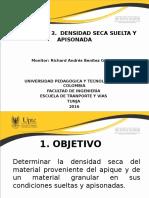 Densidad Seca Suelta y Apisonada 2S 2016