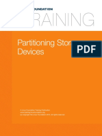 10. Filesystems and Storage Partition Storage Devices