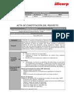 Acta de Constitucion Del Proyecto QR