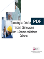 UPC Tecnologias Celulares 1 - Sistemas Inalambricos, GSM, GPRS-EDGE