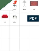Flashcards Furniture Pinyin