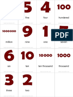 Flashcards Numbers Pinyin