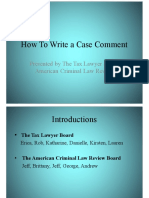 How to Write a Case Comment v2