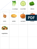 Flashcards Vegetables Pinyin