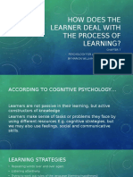How Does the Learner Deal With the Process