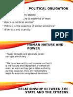 Notes in POLItical Obligation