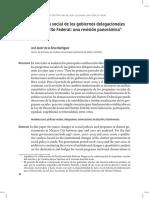 Políticas sociales de los gobiernos delegacionales del DF