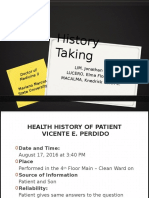 Medical History Taking