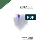 Summary Report for etabs