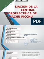 Ampliacion de La Central Hidroelectrica de Machupicchu