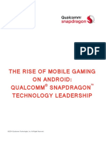 The Rise of Mobile Gaming on Android Qualcomm Snapdragon Technology Leadership