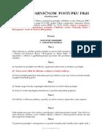 Zakon o Parnicnom Postupku FBiH Precisceni Tekst 2015